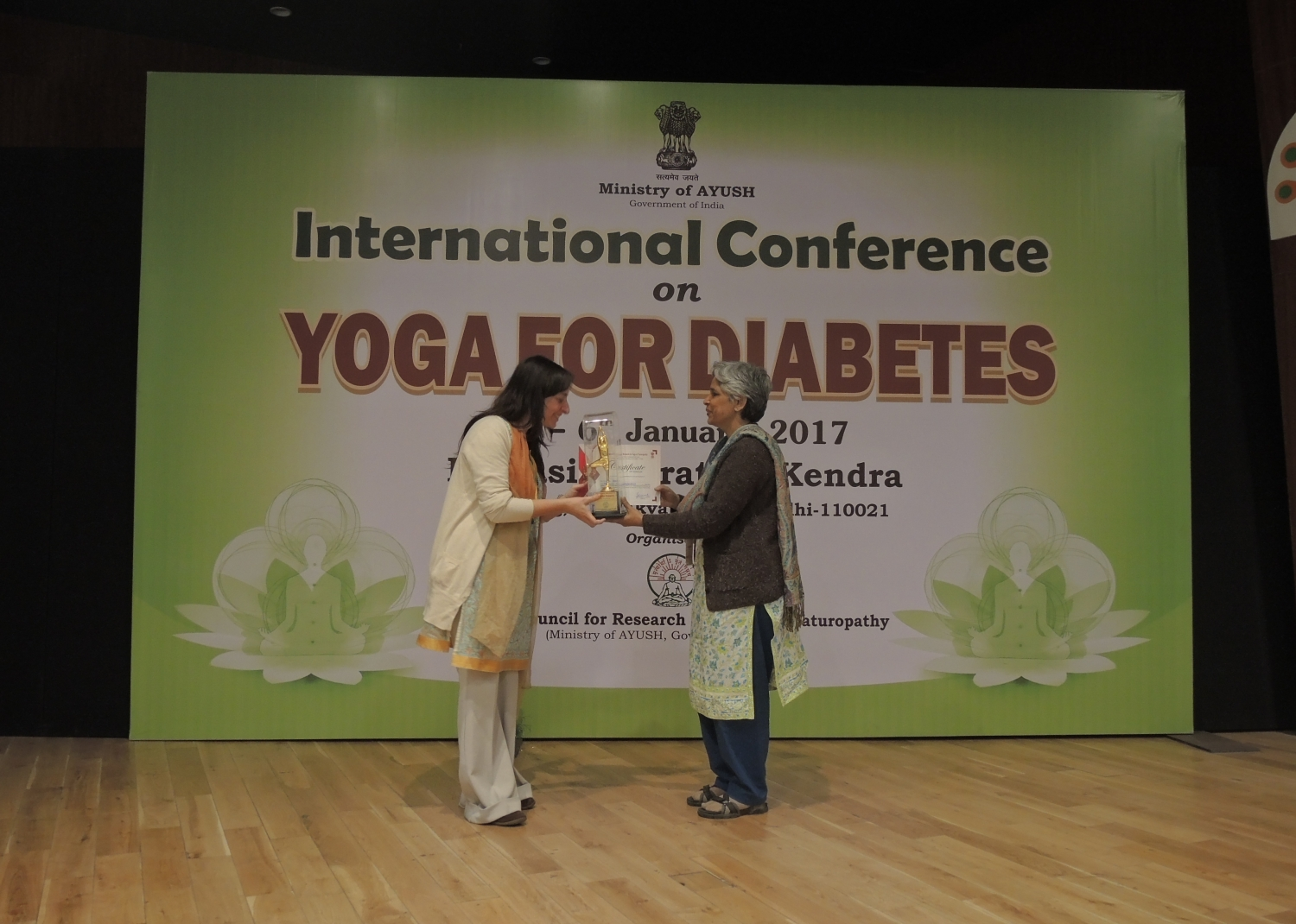International Conference on Yoga and Diabetes - Índia, Dillí - 2017, janvier - Central Council for Research in Yoga & Naturopathy