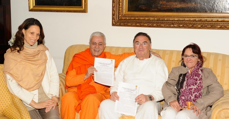 Altamira, Santillana del Mar, 2012 - Entrada de la Sanatana Dharma para la Confederación Ibérica del Yoga
