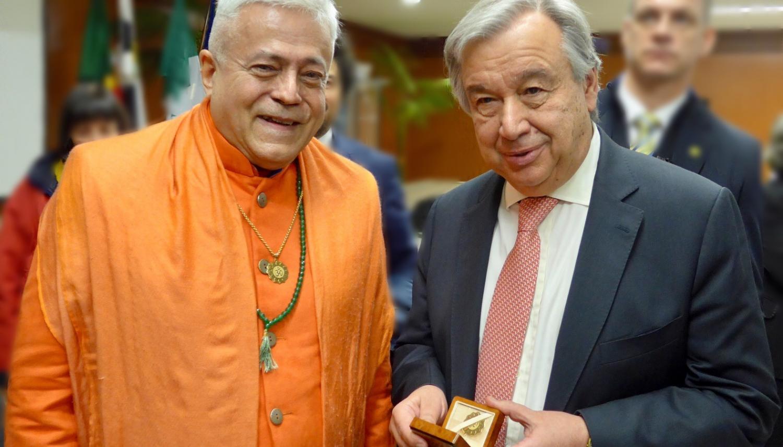 Com o Secretário Geral das Nações Unidas, Dr. António Guterres