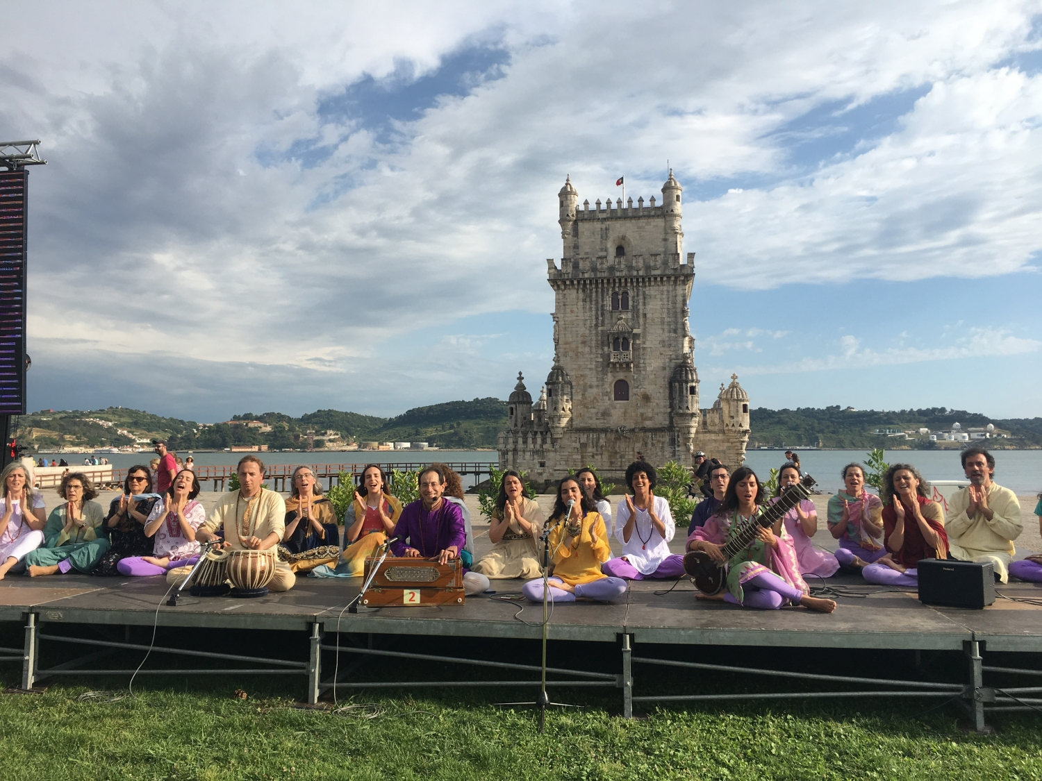 Célébration de l'International Day of Yoga - IDY - 2018, juin, 21 - Belém, Portugal