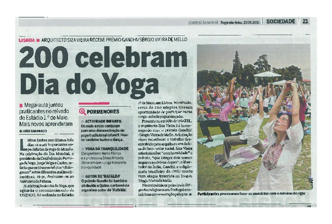 Imprensa - Dia Mundial do yoga 2011
