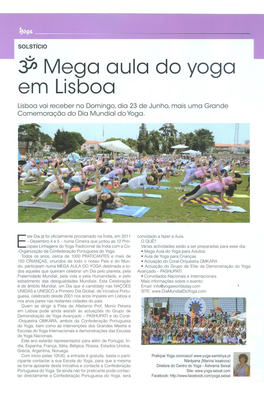 Imprensa - Dia Internacional do Yoga 2013