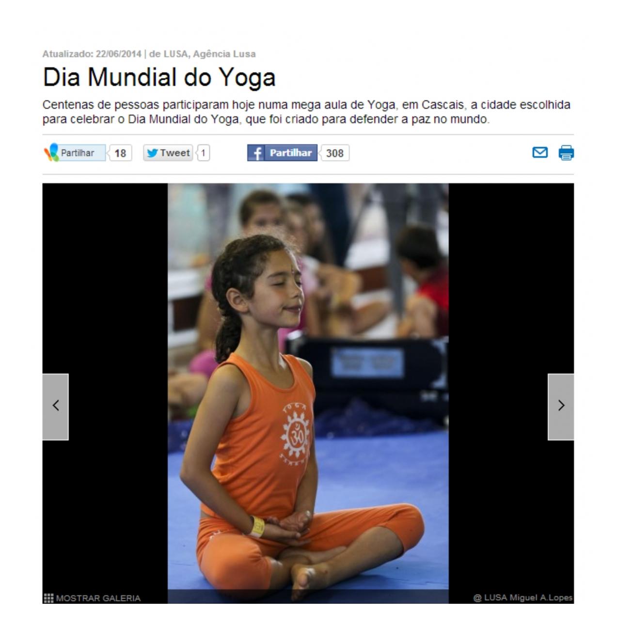 Imprensa - Dia Internacional do Yoga 2014