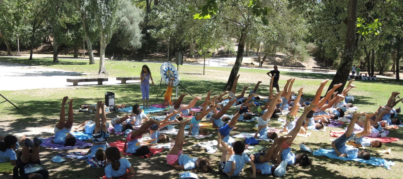 Aula do Yoga para crianças organizada em parceria com a Junta de Freguesia de Alvalade