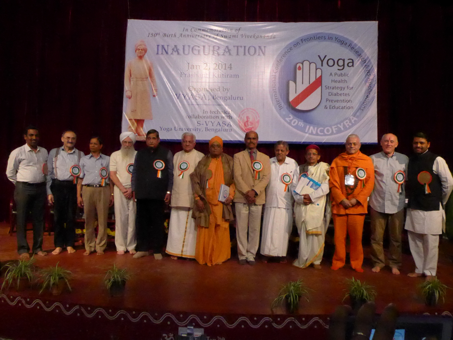 20th International Conference on Frontiers in Yoga Research and It's Applications - University of Bengaluru, S-Vyása - 2014, January, 2nd to 5th