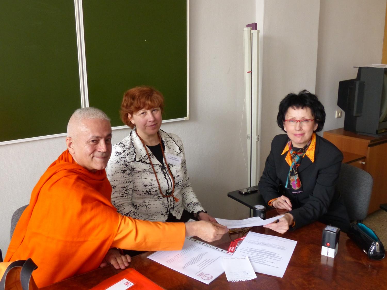 Encontro de Jorge Veiga e Castro, Gr. Mestre Internacional do Yoga, com a Direcção da Federação Russa do Yoga Clássico - Moscovo, Rússia - 2013, Abril