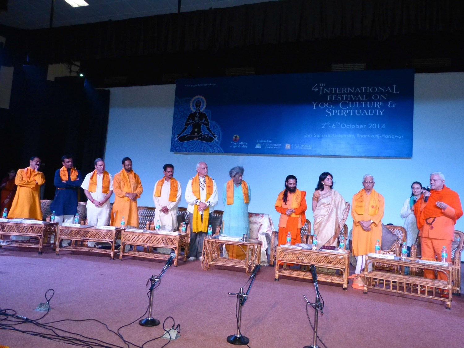 Participation of the Portuguese Yoga Confederation on the 4th International Festival on Yoga, Culture and Spirituality - Shántikunj Áshrama, Haridvar, India - 2014, October, 2th to 6th