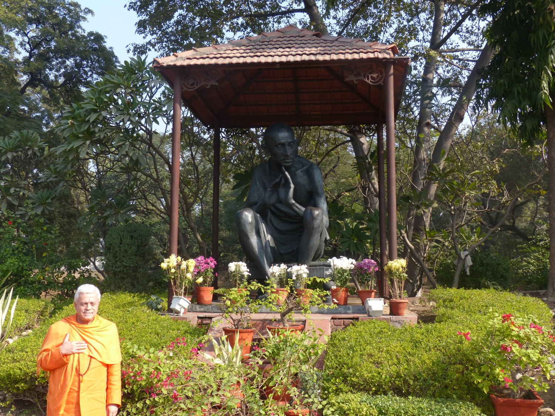 Homenagem a Mahátma Gandhi - Raj Ghat, New Dillí – 2013