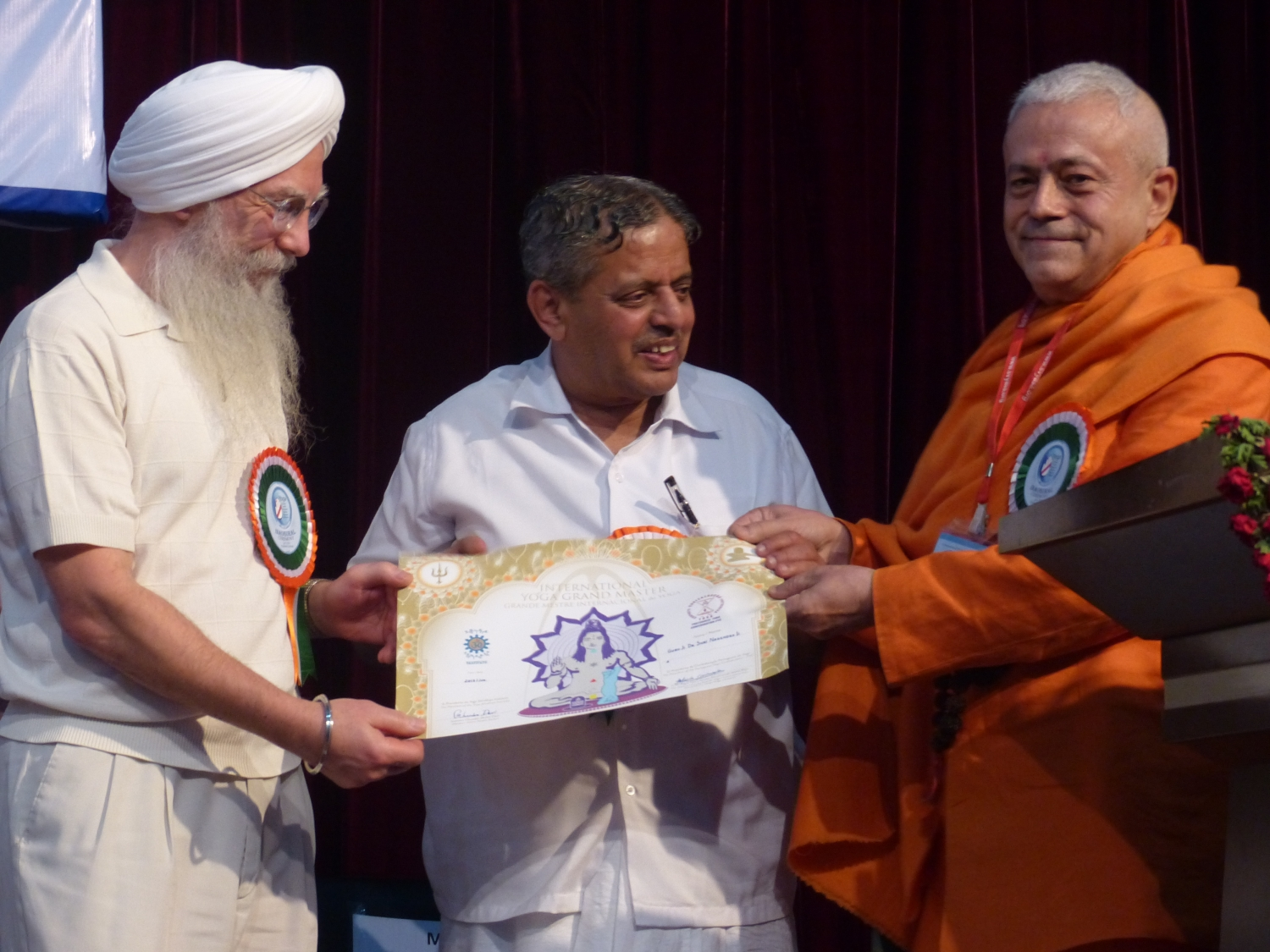Attribution of the Title of Grand International Yoga Master and Keilasha award to  H.H. Dr. H. R. Nagendra - 2014, January