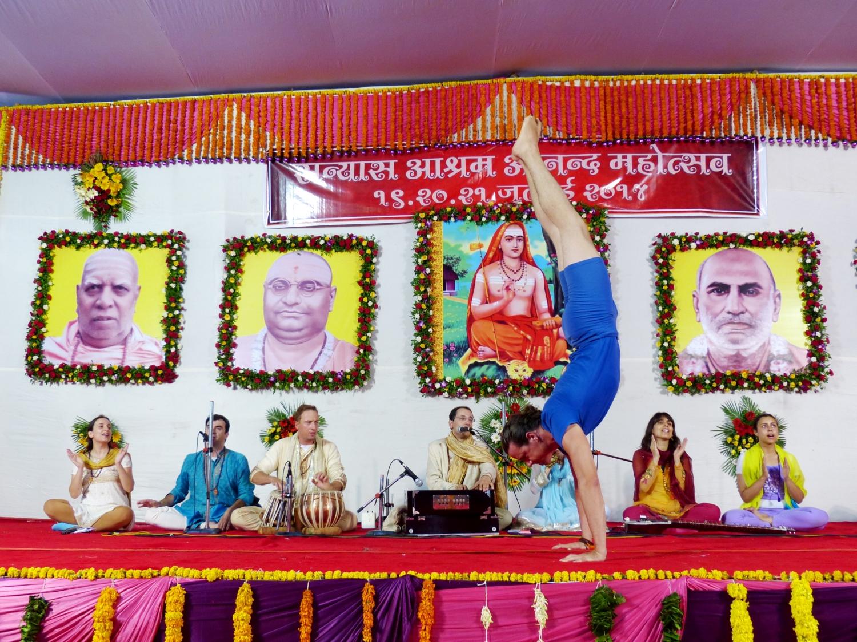 60th Anniversary of H.H. Vishvesharánanda Giri Jí Mahá Rája, Sanyasa Áshrama, Mumbai, 2014