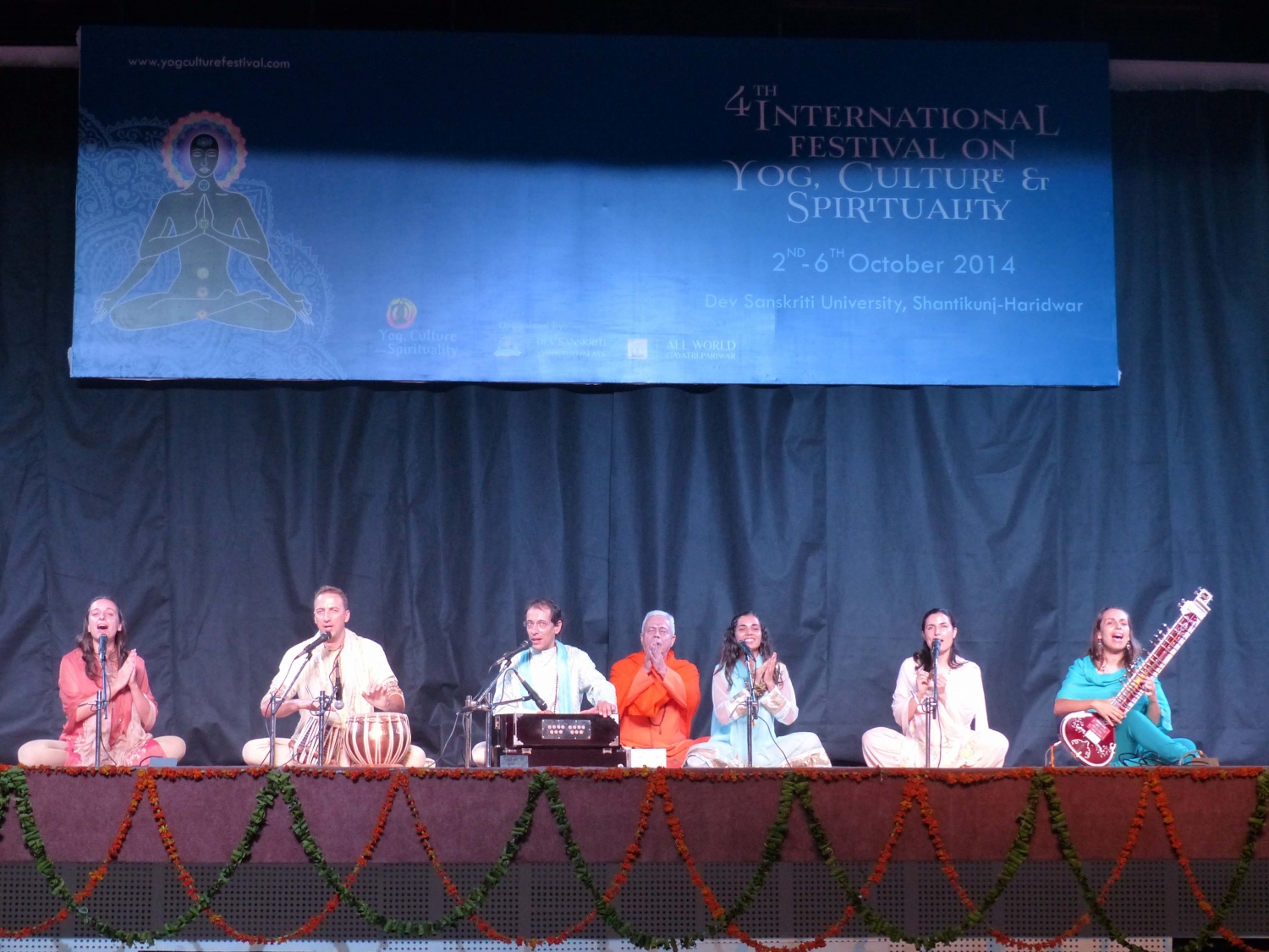Participação da Confederação Portuguesa do Yoga no 4º International Festival on Yoga, Culture and Spirituality - Shántikunj Áshrama, Haridvar, Índia - 2014, Outubro, 2 a 6