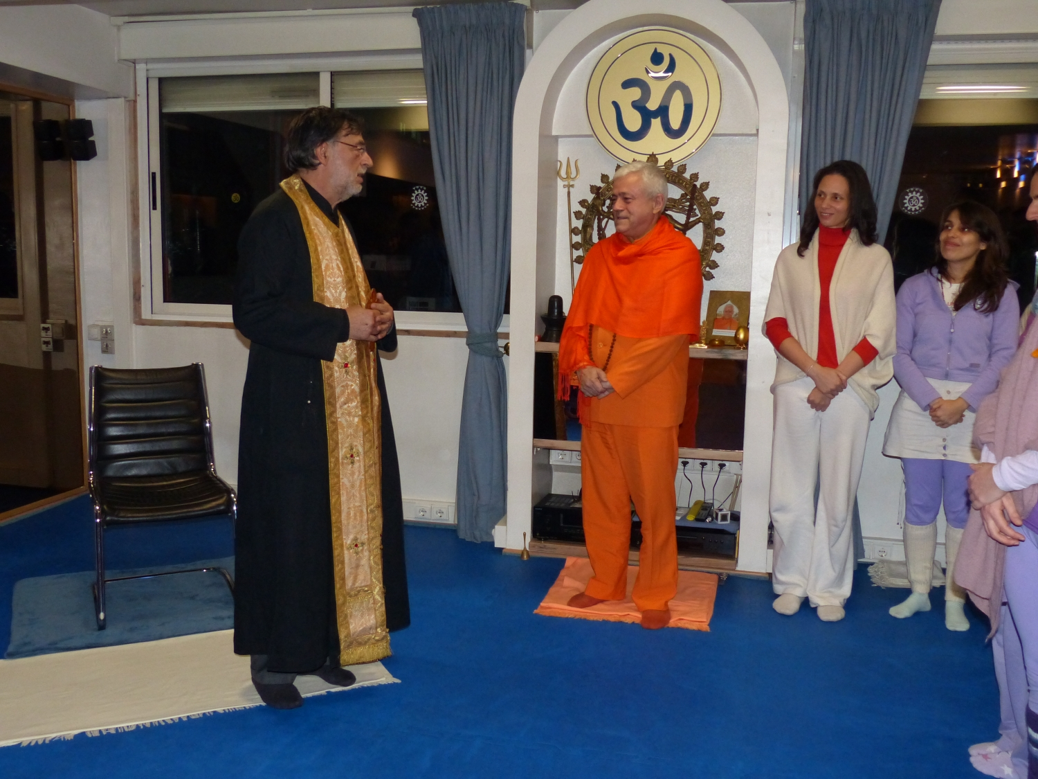 Visit of Father Alexandre Bonito - Greek Orthodox Church - at the Headquarters of the Portuguese Yoga Confederation, Lisboa – 2015