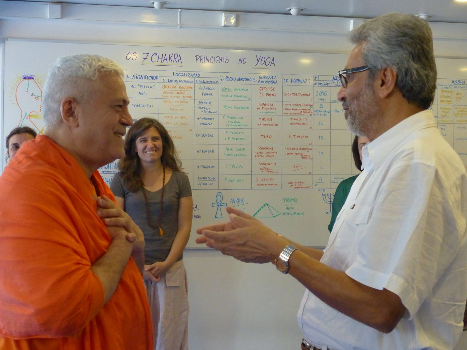 Visit of Bawa Jain -  Secretary-General for the World Council of Religious Leaders - at the Headquarters of the Portuguese Yoga Confederation, Lisboa – 2015