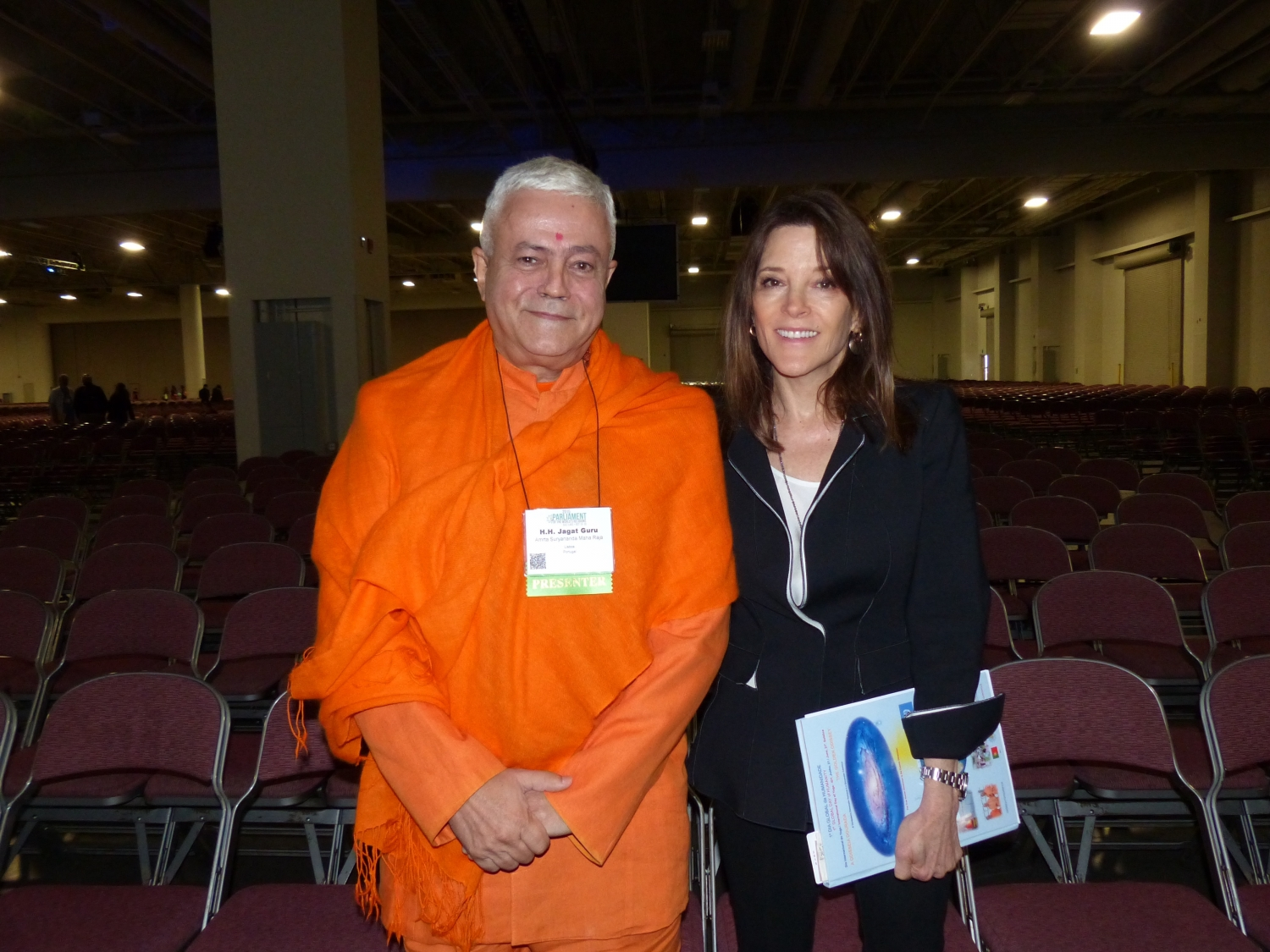 With Marianne Williamson, writer- USA