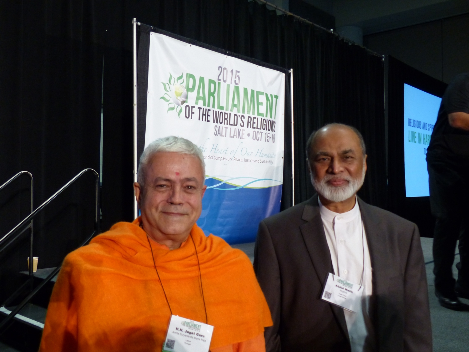 Avec Imam Abdul Malik Mujahid, Président du Parliament of the World's Religions