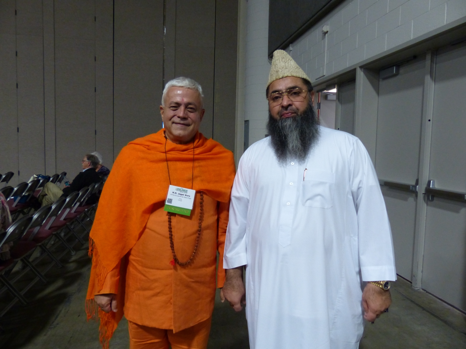 With Imam Umer Ahmed Ilyasi - India