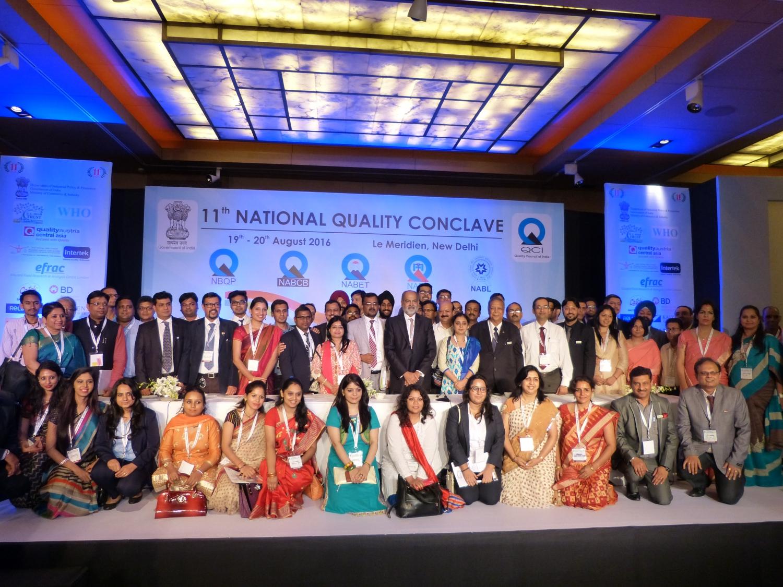 Participantes e premiados com os prémios de qualidade nas categorias de Platina, Ouro e Prata