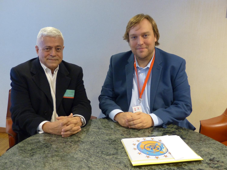 Com Dr. Pedro Santo, acessor do Eurodeputado Dr. Francisco Assis