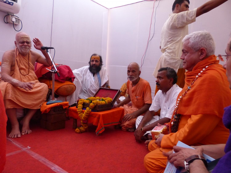 Encontro com H.H Jagadguru Svámin Nischalánanda Sarasvatí - Shankaracharya de Puri