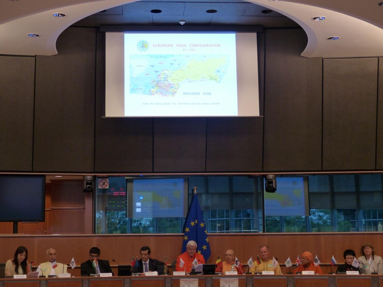 Cerimónia Solene do Encerramento do 2º Congresso Europeu do Yoga - 2016 - Parlamento Europeu de Bruxelas