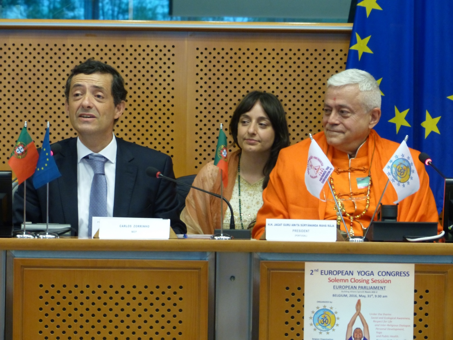 Solemn Closing Ceremony of the 2nd European Yoga Congress - 2016 - European Parliament in Brussels (...)