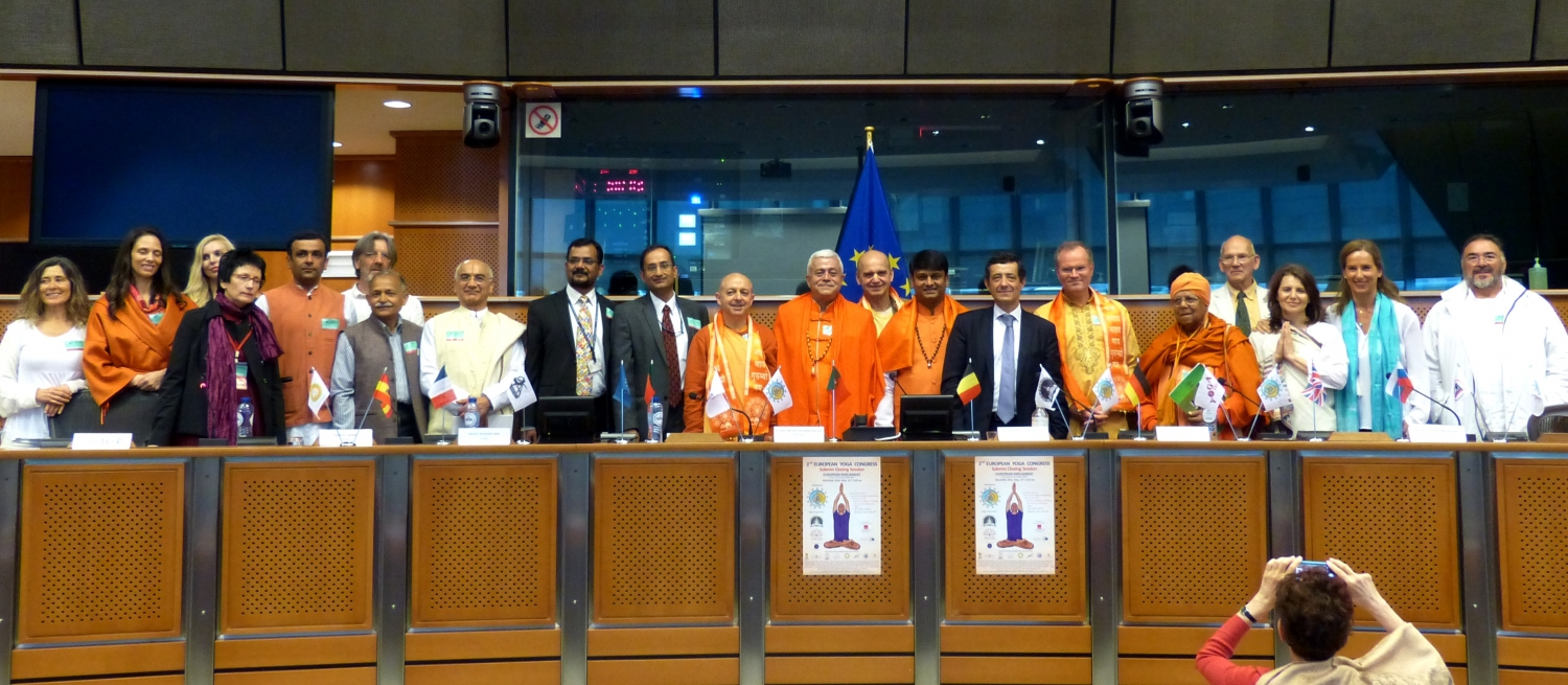 Cerimónia Solene do Encerramento do 2º Congresso Europeu do Yoga - 2016 - Parlamento Europeu de Bruxelas