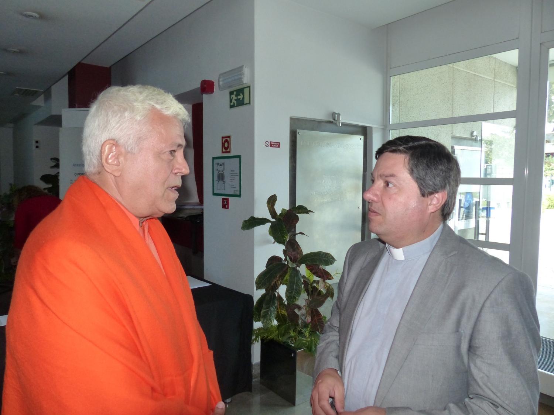 Com Padre Ricardo Ferreira  - Representante para o Diálogo Inter-religioso do Patriarcado