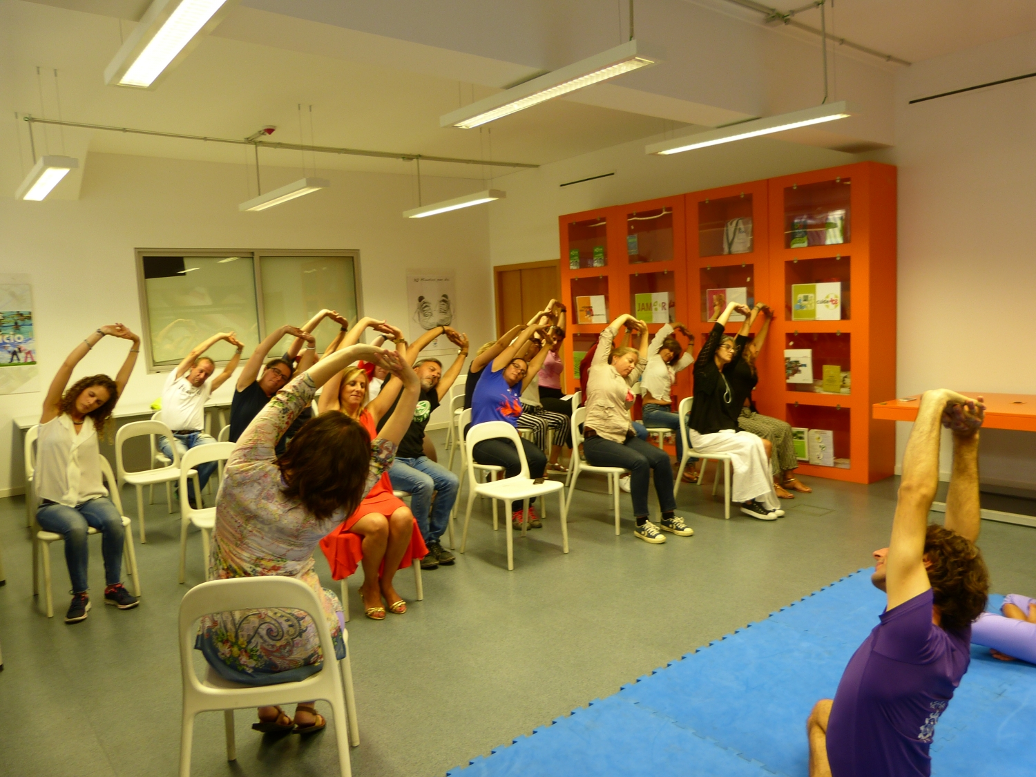 Presentation of the Technical Disciplines and benefits of the Yoga Sámkhya to the IPDJ employees - 2016, October