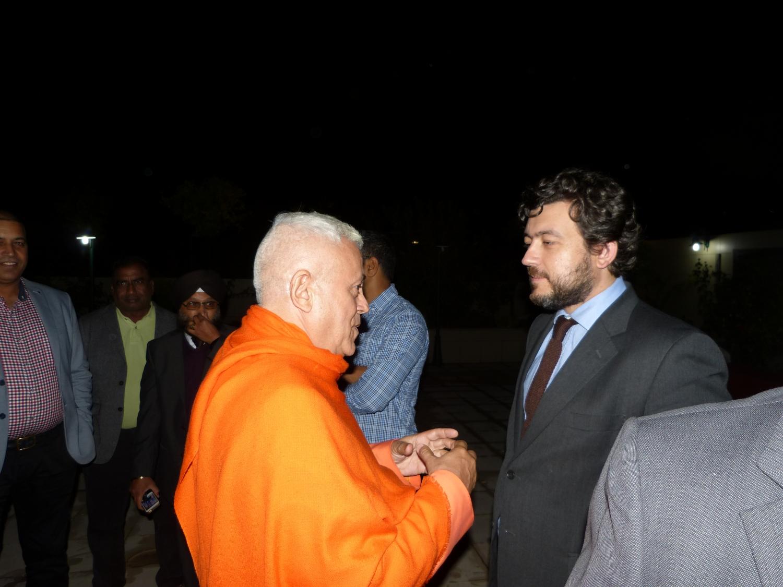 Jantar com a Delegação do Indian Parlamentary Goodwill - Templo Rádhá Krshna - 2016, Outubro, 17