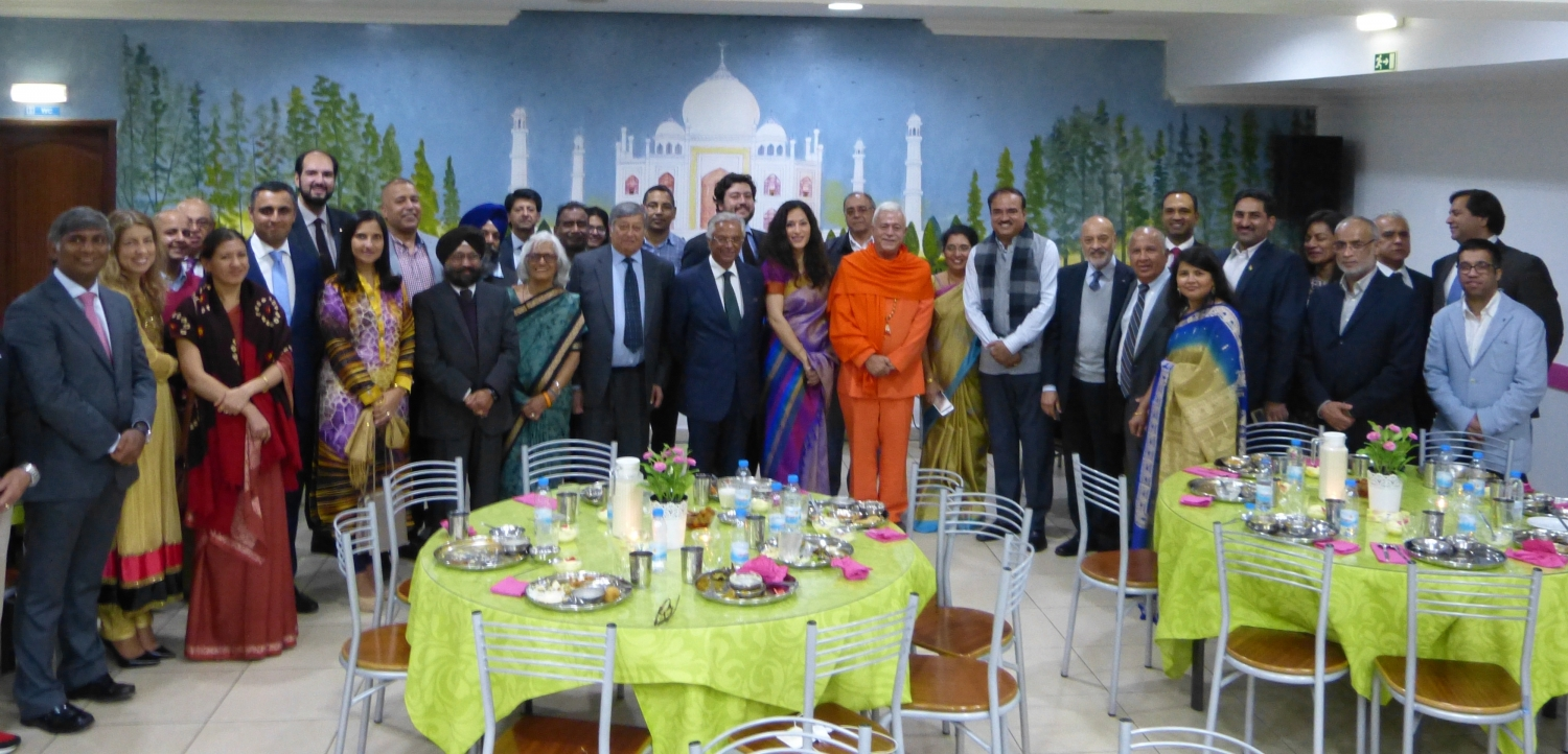 Dinner with the Delegation of the Indian Parlamentary Goodwill - Rádhá Krshna Temple - 2016, October, 17th