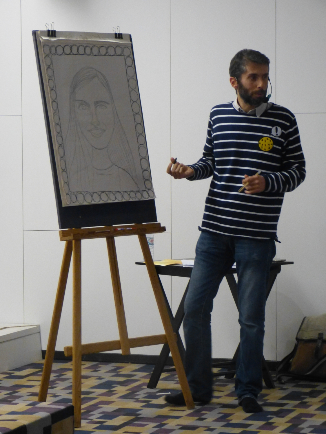 Drawing Workshop 'Who sees faces sees hearts' (Prof. Vyása)