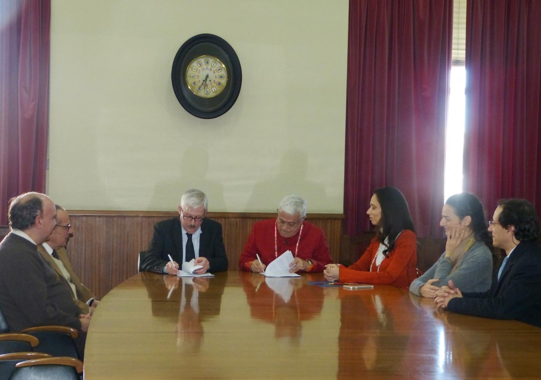 Assinatura do Protocolo entre a Confederação Portuguesa do Yoga e a Faculdade de Letras da Universidade de Lisboa - 2017, Fevereiro 16