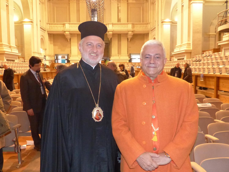 H.H, Jagat Guru Amrta Súryánanda Mahá Rája Prof. Dr. Elpidophoros Lambriniodis da The Holy Theological School of Halki