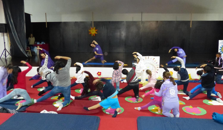 Aula do Yoga para Crianças - Lisboa, Templo Rádhá Krshna - 2017, Fevereiro, 18