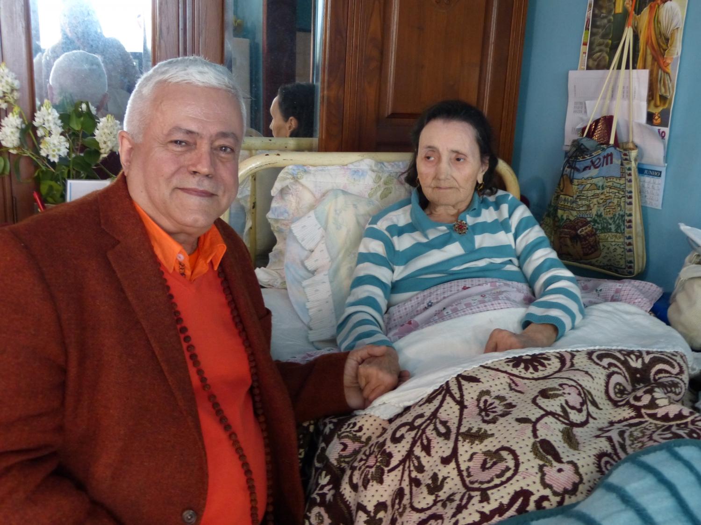 Com a filha de Severino Alves, o Vidente de Nossa Senhora da Paz