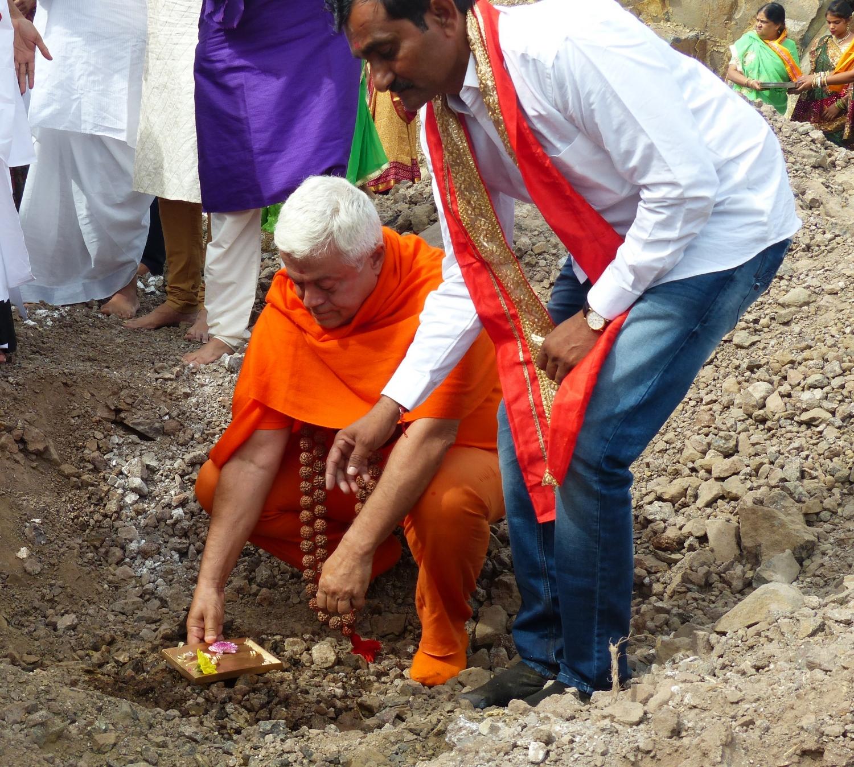 Lançamento da 1ª Pedra  - Construção do Novo Templo de Shiva - Lisboa - 2017, Setembro, 30
