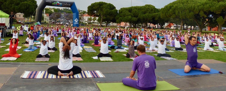 Celebração do International Day of Yoga - IDY / Dia Internacional do Yoga - 2018, Junho, 21 - Belém, Portugal