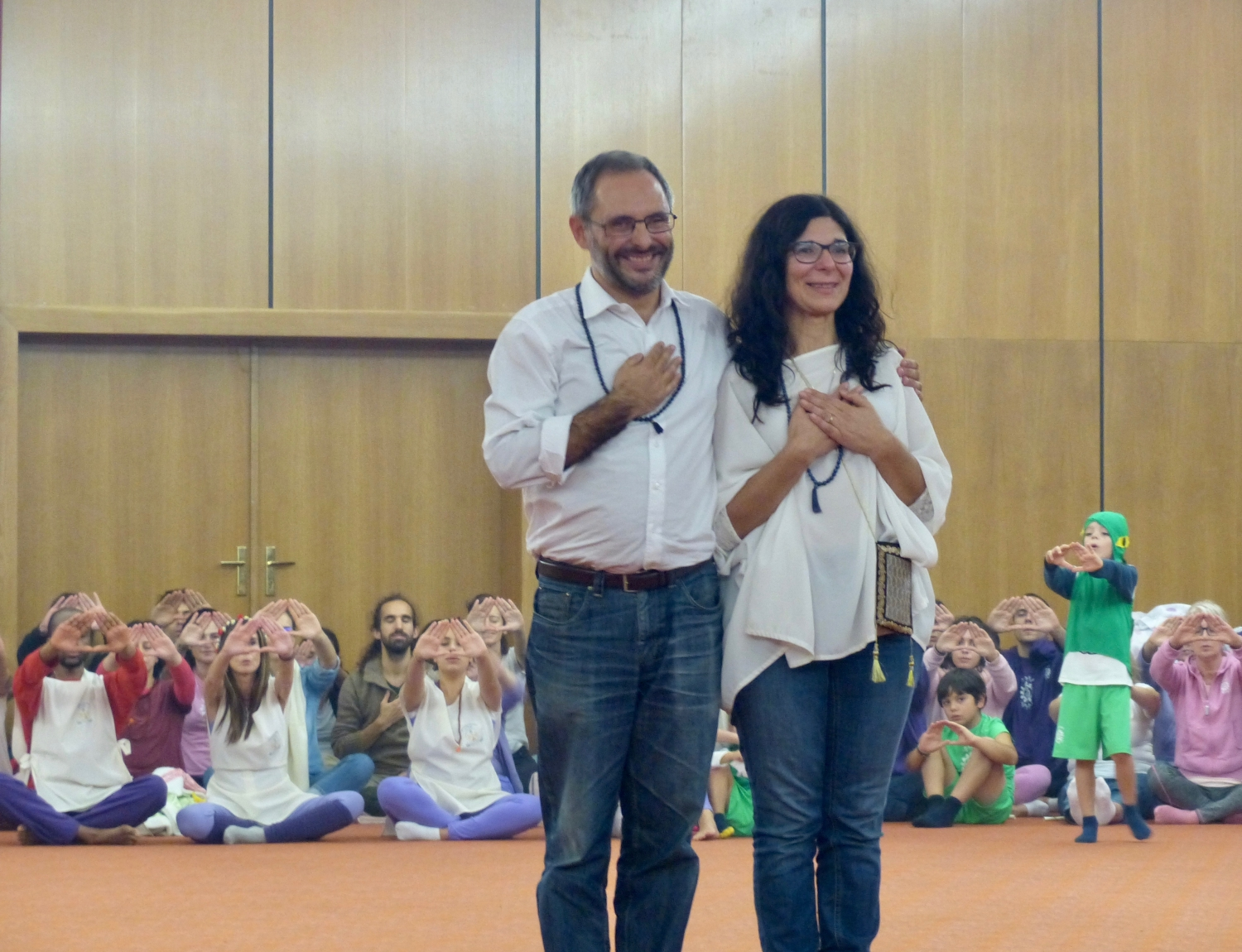 The Directors of the Áshrama of Benfica, Organizers of the National Convention of Yoga - 2018