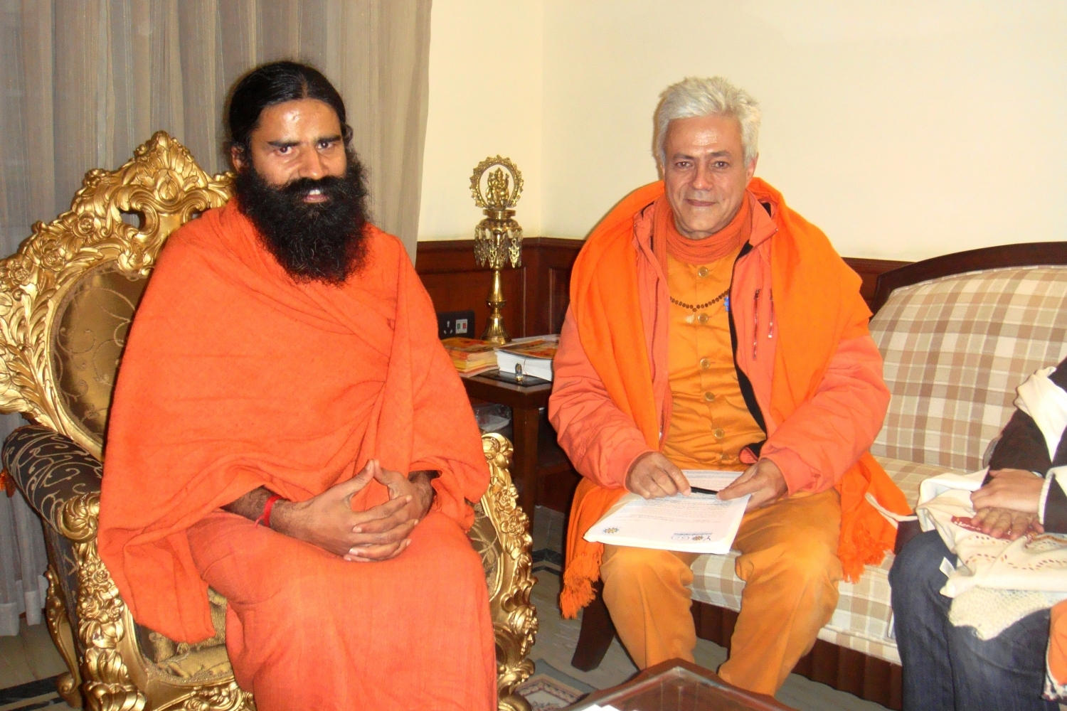 With Baba Ramdev, Patañjali Yogapeeth, India