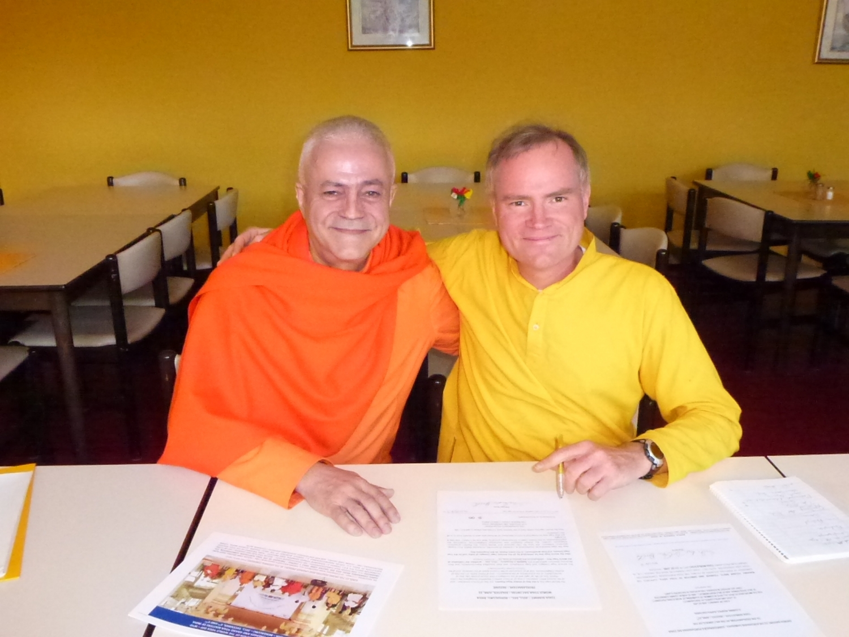 Com Mestre Sukadev Bretz, Bad-Meinberg, Alemanha