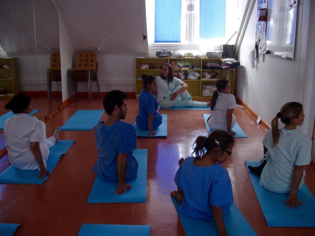 Aula do Yoga Sámkhya na Maternidade Alfredo da Costa - 2016, Junho, 14