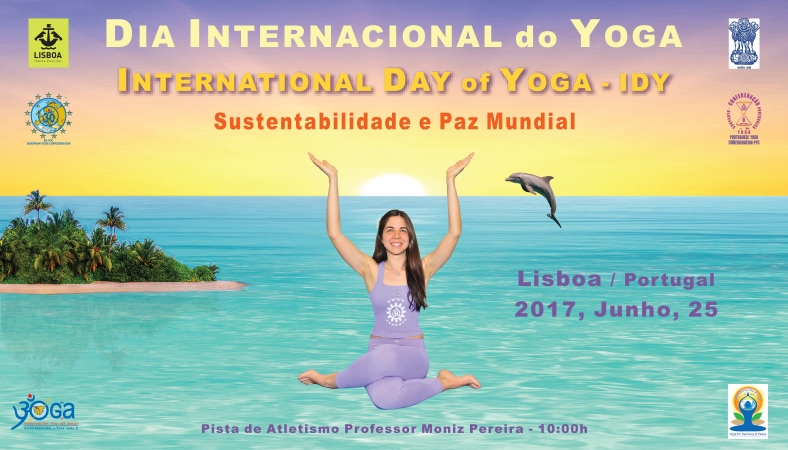 INTERNATIONAL DAY OF YOGA - IDY - LISBOA, PORTUGAL - 2017, JUNHO, 25