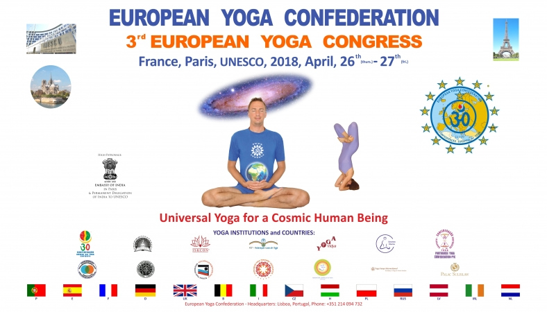 3rd EUROPEAN YOGA CONGRESS - 2018, UNESCO, PARIS, FRANCE