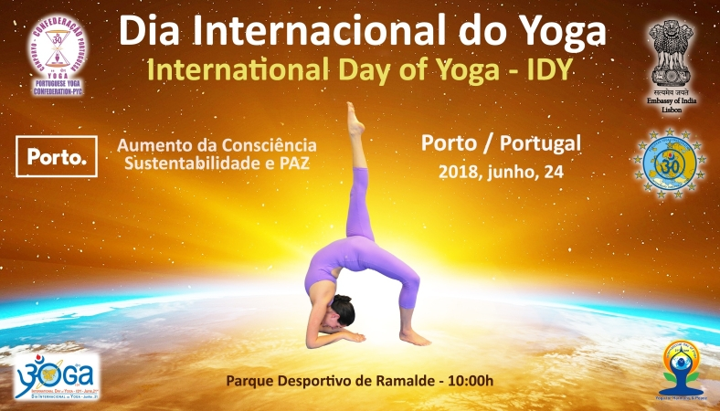 JOURNÉE INTERNATIONALE DU YOGA - PORTO, PORTUGAL - 2018, JUIN, 24