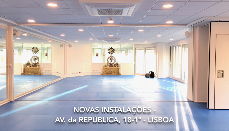 PRATICE at the HEADQUARTERS of the PORTUGUESE YOGA CONFEDERATION - NEW ADRESS