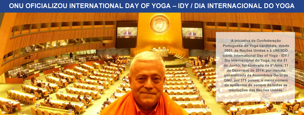 1. ONU oficializou Dia Internacional do Yoga